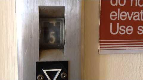 Vintage Otis Traction Elevator at O'Connor Hospital 1953 Building in San Jose, CA