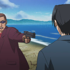 Bando taking aim at Kurama.