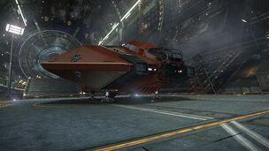 E-D - Asp Explorer - Red Pharao Front Bottom Coriolis Hangar