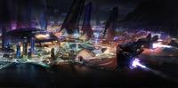 Elite Dangerous Human City Concept Art