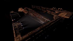 Capital ship dock