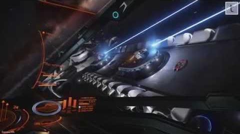 Elite Dangerous Gamma 1.05 Closer look at Imperial Capital Ship (Majestic Class Interdictor)