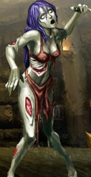 D Zombie Lady