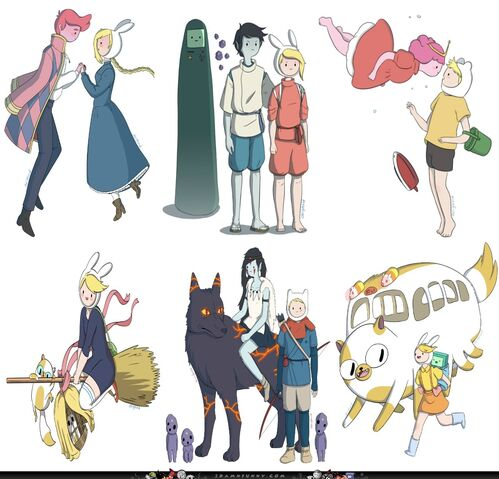 File:Studio Ghibli Film Characters adventure time.jpg