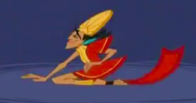 File:Kuzco going mentally insane after dropped over 200 feet..png
