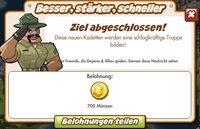 Besser, stärker, schneller Belohnung (German Reward text)