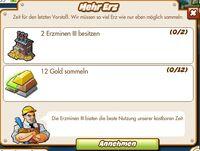 Mehr Erz (German Mission text)