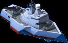 Railgun Battleship Front