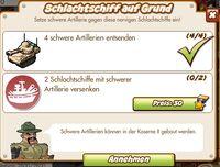Schlachtschiff auf Grund (German Mission text)