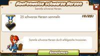 Haufenweise schwarze Herzen (German Mission text)
