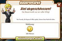 Bauernmarkt Belohnung (German Reward text)