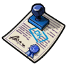 Blue Approval Stamp