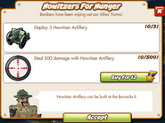 Goal Screen - Howitzers For Hunger
