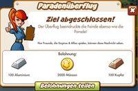 Paradenüberflug Belohnung (German Reward text)