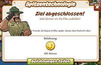 Spitzentechnologie Belohnung (German Reward text)