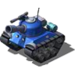 Sherman Tank Blue