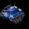 Sherman Tank Blue