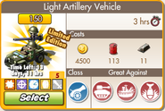 Upgraded Light Artillery Vehicle