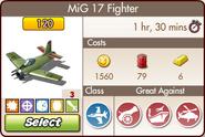 Upgraded MiG 17 Fighter