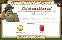Schlachtschiff auf Grund Belohnung (German Reward text)