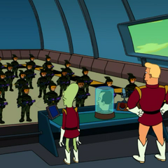 Army troops on the Nimbus above Spheron I.