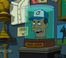 Hank Aaron's head