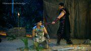 Amarro held Paopao at swordpoint