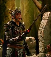 Hagorn wielding Ether's sword