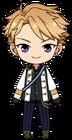 Arashi Narukami Knights uniform chibi