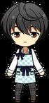 Ritsu Sakuma apron uniform chibi