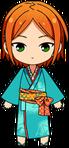Yuta Aoi Rainy Season Kimono chibi