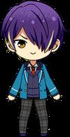 Shinobu Sengoku student uniform chibi