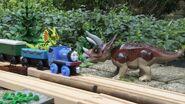 Millie in the Dinosaur Park
