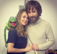 Sulai Lopez with Jim Henson and Kermit