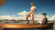 Lewis & Clark on a Boat