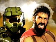 Master Chief vs Leonidas Thumbnail