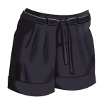 File:Black Pleated Shorts.png