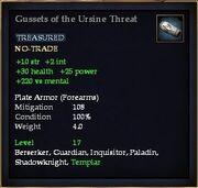 Gussets of the Ursine Threat