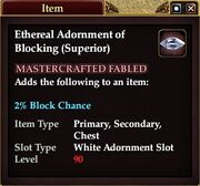 Ethereal Adornment of Blocking (Superior)