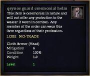 Qeynos guard ceremonial helm