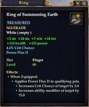 Ring of Summoning Earth
