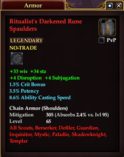 Ritualist's Darkened Rune Spaulders