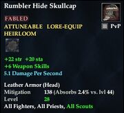 Rumbler Hide Skullcap