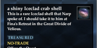 A shiny Iceclad crab shell