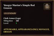 Vesspyr Warrior's Simple Red Greaves