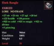 Dark Bangle