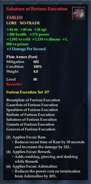 Sabatons of Furious Execution