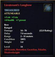 Lieutenant's Longbow