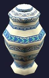 Ornate Porcelain Urn (Visible)