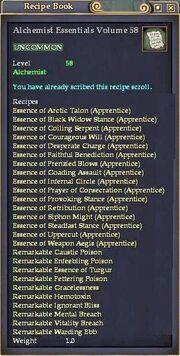 Alchemist Essentials Volume 58